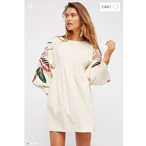 Free People Mini Obsessions Embroidered Mini Dress